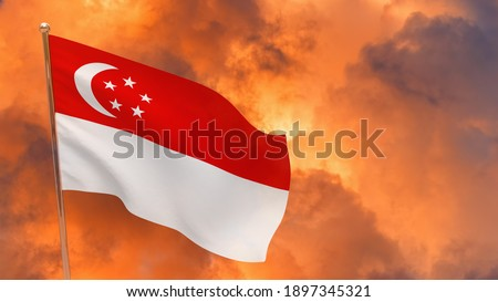 Stormy Singapore Stock photo © joyr
