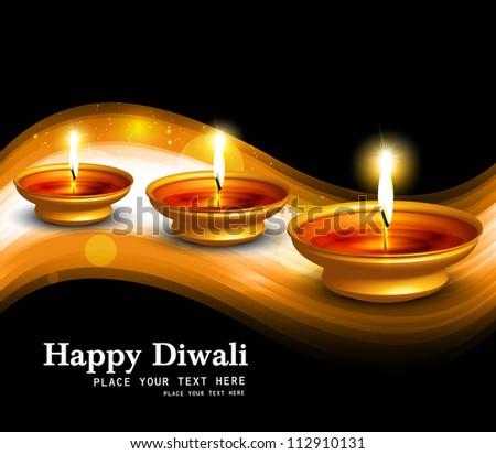 Diwali illuminating Diya for Hindu festival beautiful background Stock photo © bharat