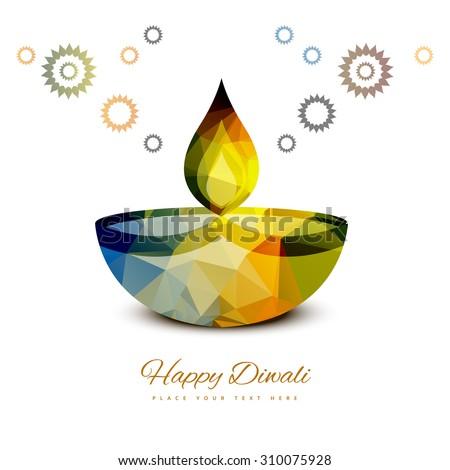 colorful diwali diya celebration festival card background illust stock photo © bharat