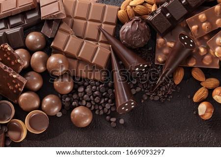 csokoládé · közelkép · finom · stúdiófelvétel · étel · cukorka - stock fotó © jirkaejc