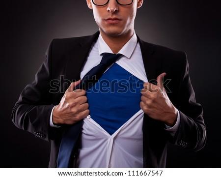 ストックフォト: 表示 · ビジネスマン · オフ · シャツ · ビジネス