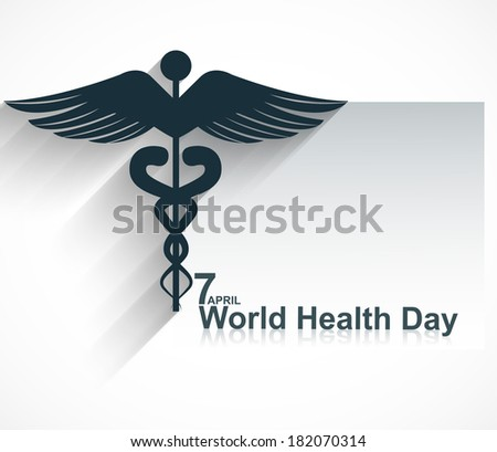 Caduceus medical symbol beautiful World health day design vector Stock photo © bharat