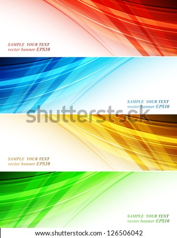 Abstract blue background with yellow strip - Vector illustration Stock photo © sdmix