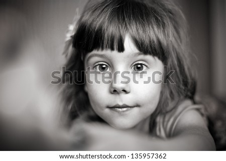 Monochrome vlose-up portrait of a girl with a handful of berries Stock photo © Nejron