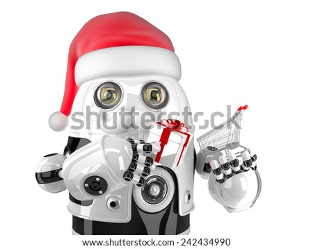 robot · Noel · 3d · render · gelecek · hediye · tatil - stok fotoğraf © kirill_m