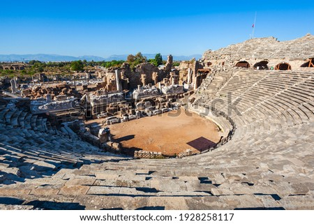 View of the old city from the colonnade of the theater Solis, Mo Stock photo © xura