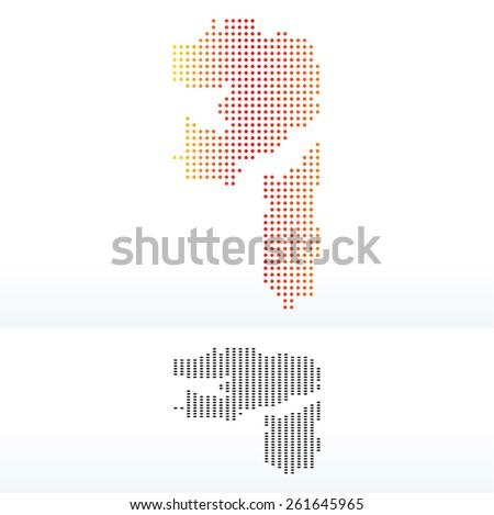 Térkép Egyesült Arab Emírségek pont minta vektor kép Stock fotó © Istanbul2009