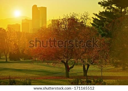 panoramę · noc · lata · 2010 · skupić · wieżowce - zdjęcia stock © cboswell