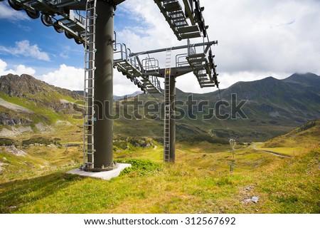 nyár · tájkép · sí · üdülőhely · Ausztria · sport - stock fotó © CaptureLight