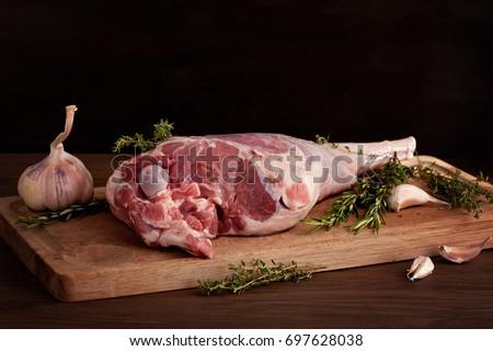 świeże surowy mięsa nogi baranka gotowy Zdjęcia stock © Ainat