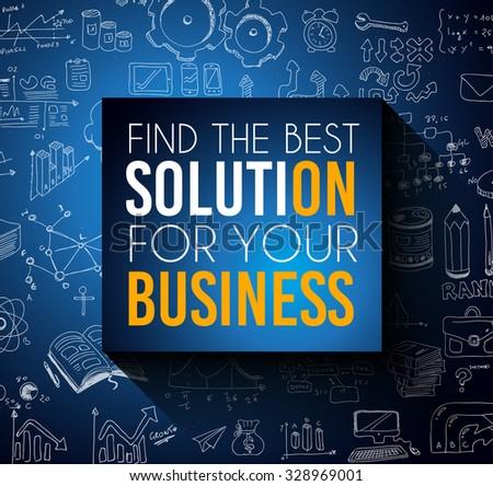 Trouver meilleur solution affaires grand slogan Photo stock © DavidArts