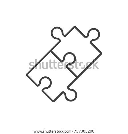 puzzle piece icon stock photo © oakozhan