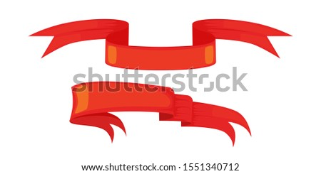 Ribbon isolated template red. Decorative tape for heraldry. Retr Stock photo © popaukropa