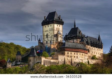 karlstejn castle a large medieval gothic castle karlstejn vill stock photo © kirill_m