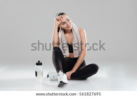 young woman in sports concept isolated on the white stock photo © elnur