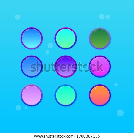 Foto stock: Brilhante · colorido · moderno · suculento · azul · luz