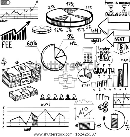 business success template with hand drawn sketches and a lot of mockups design elements stock photo © davidarts