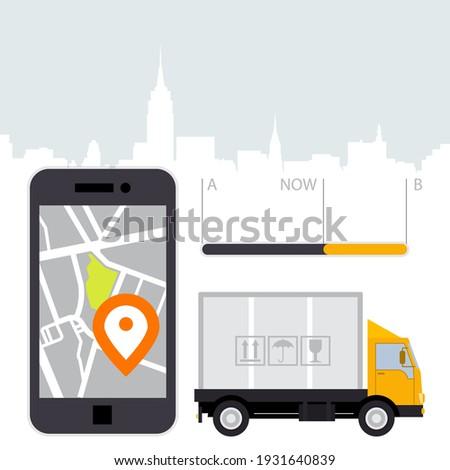 Carga ubicación aplicación móviles GPS navegación Foto stock © gomixer