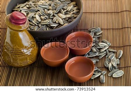 Chinese antieke wijnfles wijn zonnebloem Stockfoto © shutter5