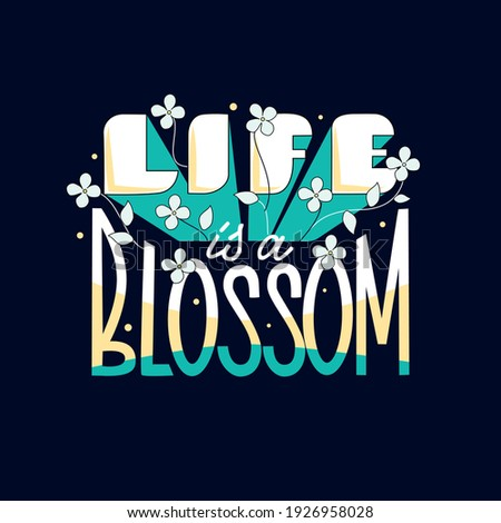 Vector illustration of slogan 'Life is full of beauty' with fash Stock photo © curiosity
