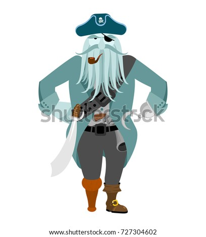 Captain pirates ghost. Mythical Angry boss buccaneer with tentac Stock photo © popaukropa