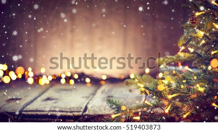 クリスマス 祭り 光 効果 背景 ストックフォト © SArts