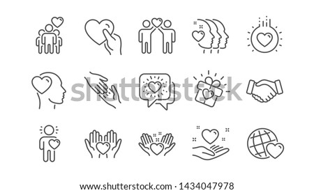 Volunteer Hearts Icon Stock photo © lenm