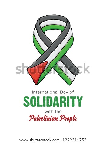 icon   International Day of Solidarity with the Palestinian Peop Stock photo © Olena
