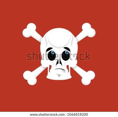 Szkielet zdziwiony czaszki emocji odizolowany ludzi Zdjęcia stock © popaukropa