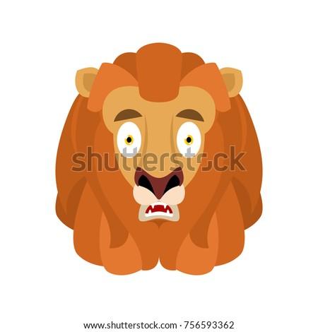 Oroszlán ijedt omg avatar érzelem vadállat Stock fotó © popaukropa