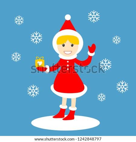 Дед · Мороз · настоящее · Рождества · улыбаясь - Сток-фото © nikodzhi
