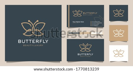 Vector illustration of a butterfly in the style of double exposure. Greetings to spring or summer Stock photo © m_pavlov