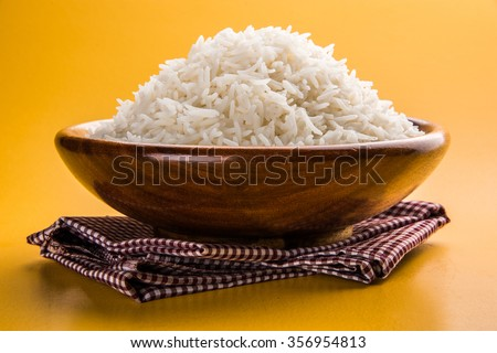 Basmati rice cereal in plate isolated. Healthy food for breakfas Stock photo © MaryValery
