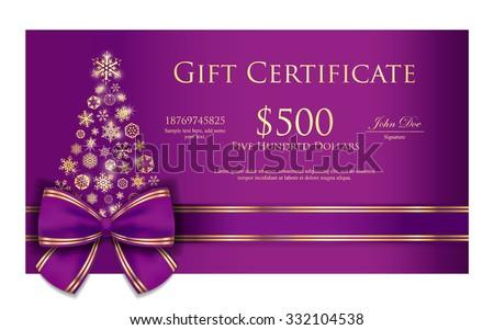 роскошь Рождества ваучер Purple Сток-фото © liliwhite