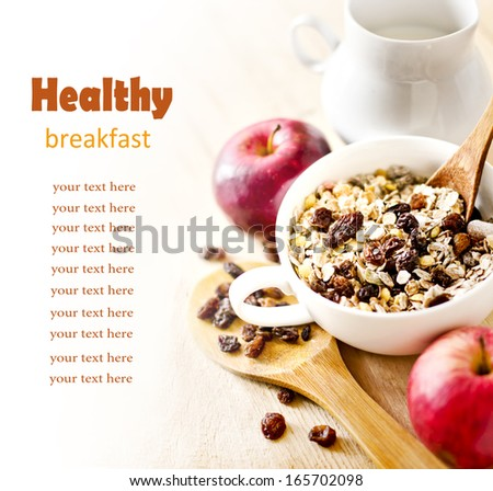 Corn cereal in plate isolated. Healthy food for breakfast. Vecto Stock photo © MaryValery