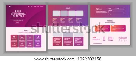 Website Page Vector. Business Website. Site Scheme Template. Cartoon People. Creativity Goal. Illust Stock photo © pikepicture