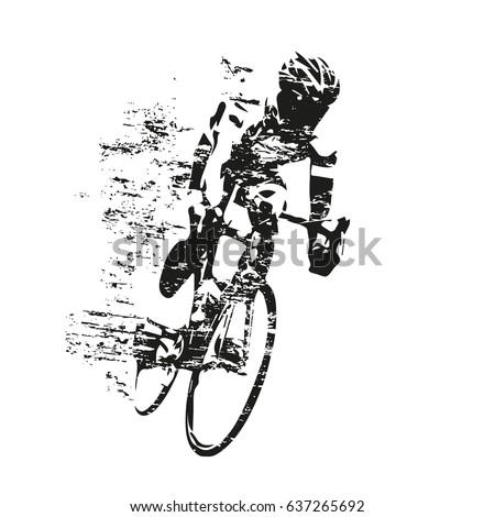 rower · wyścigu · rowerzysta · rowery · sportowe · wektora - zdjęcia stock © popaukropa