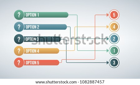 Modern color 6 connect options match infographic concept. Vector illustration isolated on white back stock photo © kyryloff