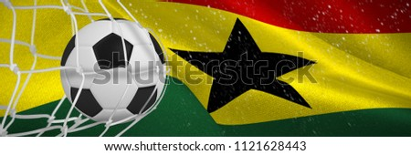 Futbol topu gol net dijital oluşturulan Gana Stok fotoğraf © wavebreak_media