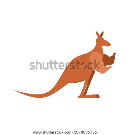 Kanguru güçlü Avustralya avustralya çim arka plan Stok fotoğraf © popaukropa