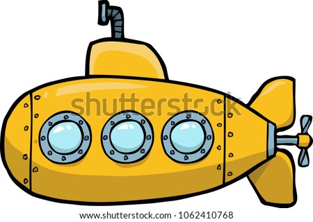 黄色 潜水艦 水中 白 漫画 デザイン ストックフォト © Natali_Brill