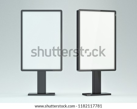 blank street billboard on white background ddvertising display 3d stock photo © user_11870380