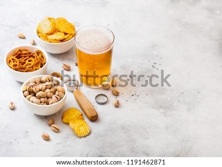 galleta · salada · papa · pistacho · blanco · cerámica · tazón - foto stock © denismart