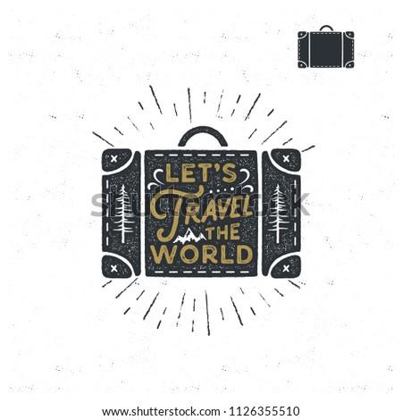 retro · plakat · podpisania · podróży · świat · nie - zdjęcia stock © jeksongraphics