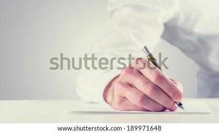 Diák toll kéz ír vizsgák lap Stock fotó © pikepicture