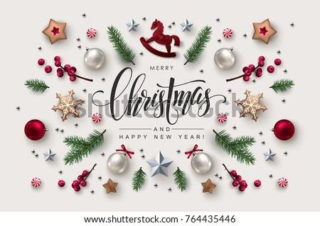 Karácsony képeslap kalligrafikus évszak kívánságok ünnepi Stock fotó © ikopylov