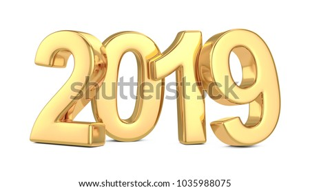 2019 New Year Coming Illustration with 3d Number and Progress Bar on Dark Blue Background. Vector Ho Stock photo © articular