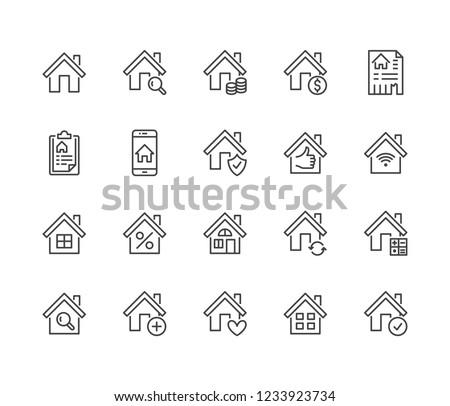 логотип дома продажи аренда домой собственность Сток-фото © konturvid