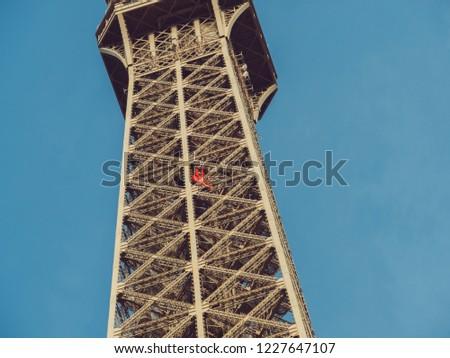Torre · Eiffel · ver · dentro · Paris · França · construção - foto stock © artfotodima