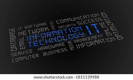 Fókusz informatika szolgáltatás vezetőség 3d illusztráció nagyító Stock fotó © olivier_le_moal
